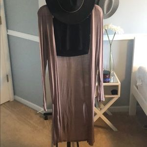 Thin brown cardigan (long)